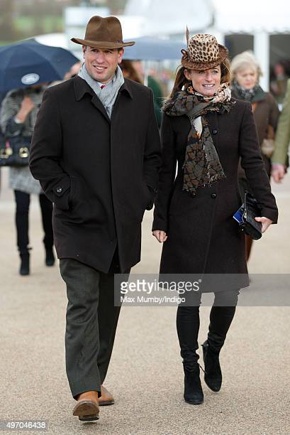 Peter Phillips and Dolly Maude attend Countryside Day of The Open meeting at Cheltenham Racecourse on November 13 2015 in Cheltenham England