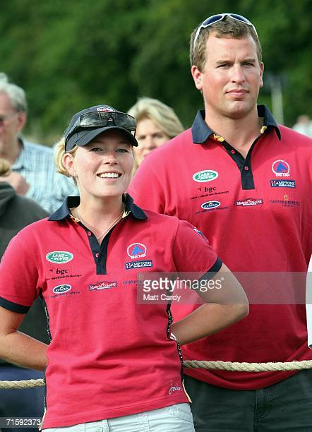 Peter Phillips and his girlfriend Autumn Kelly attend the second day of the Gatcombe Horse Trials at the Gatcombe Estate on August 5 2006 in Tetbury...