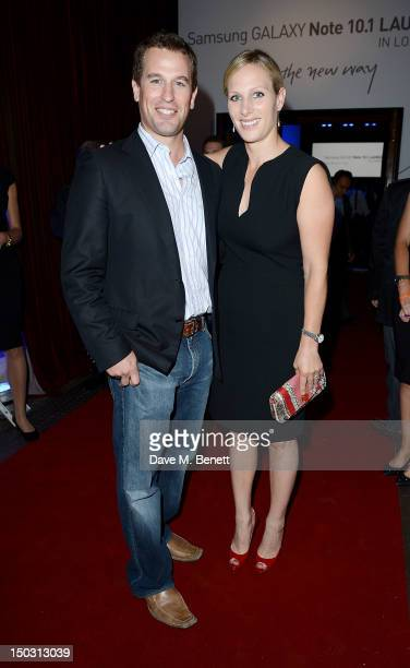 Peter Phillips and Zara Phillips attend the Samsung Galaxy Note 101 launch party at One Mayfair on August 15 2012 in London England