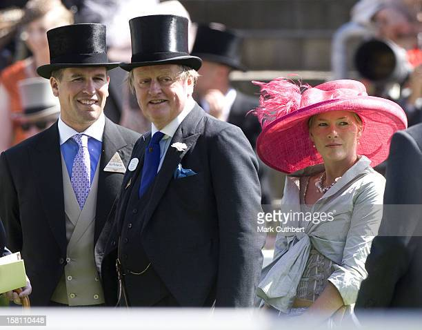 Peter Phillips Andrew Parker Bowles And Autumn Phillips Attending Ladies Day At Royal Ascot Berkshire