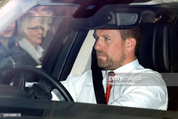 Peter Phillips attends a Christmas lunch for members of the Royal Family hosted by Queen Elizabeth II at Buckingham Palace on December 19 2018 in...