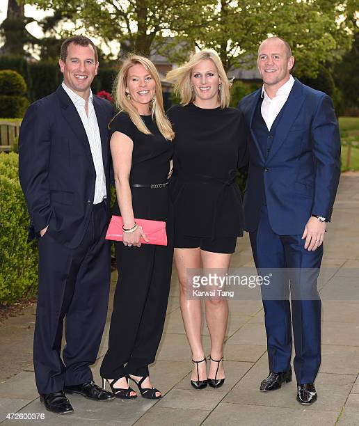 Peter Phillips Autumn Phillips Zara Phillips and Mike Tindall attend the evening reception of the ISPS Handa Mike Tindall 3rd annual celebrity golf...