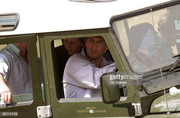 Peter Phillips Driving A Land Rover Provided By The Sponsors Land Rover At Gatcombe Park Horse Trials