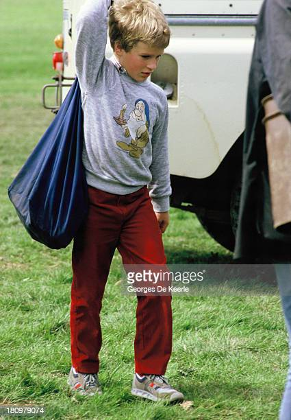 Peter Phillips during a polo match At the Windsor Horse Show on May 25 1985 in Windsor England