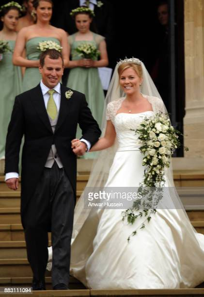 Peter Phillips marries Autumn Kelly at St George's Chapel on May 17 2008 in Windsor England
