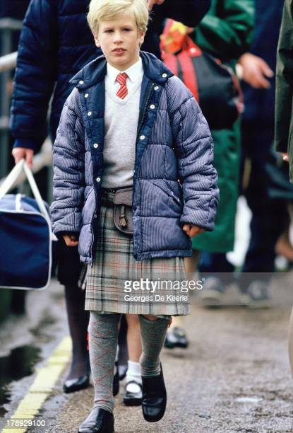 Peter Phillips son of Anne Princess Royal arrives In Scrabster for the annual summer holiday In Scotland on August 13 1986 in Scrabster Scotland