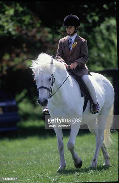 Peter Phillips son of Princess Anne at the 'Windsor Horse Show' on May 10 1986 in Windsor Berkshire