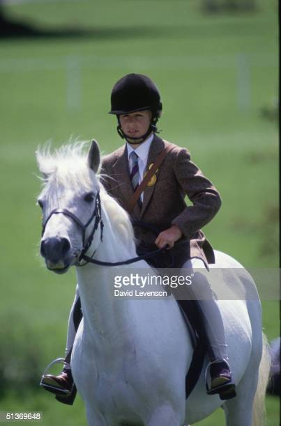 Peter Phillips, son of Princess Anne, at the 'Windsor Horse Show' on May 10, 1986 in Windsor, Berkshire.
