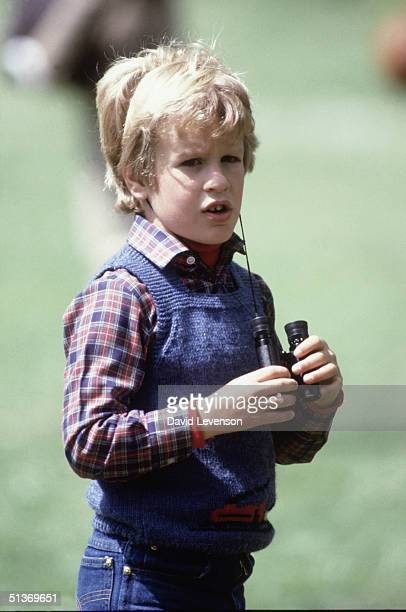 Peter Phillips, son of Princess Anne, at the 'Windsor Horse Show' on May 12, 1985 in Windsor, Berkshire.