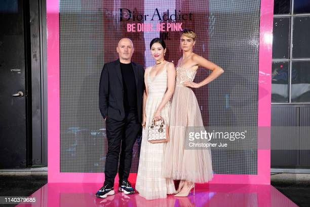 Peter Phillips Sun Mi Cara Delevingne attend Dior Addict Stellar Shine launch at Layers 57 on April 04 2019 in Seoul South Korea