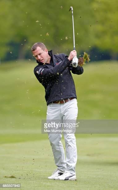 Peter Phillips takes part in the 5th edition of the 'ISPS Handa Mike Tindall Celebrity Golf Classic' at The Belfry on May 19 2017 in Sutton Coldfield...