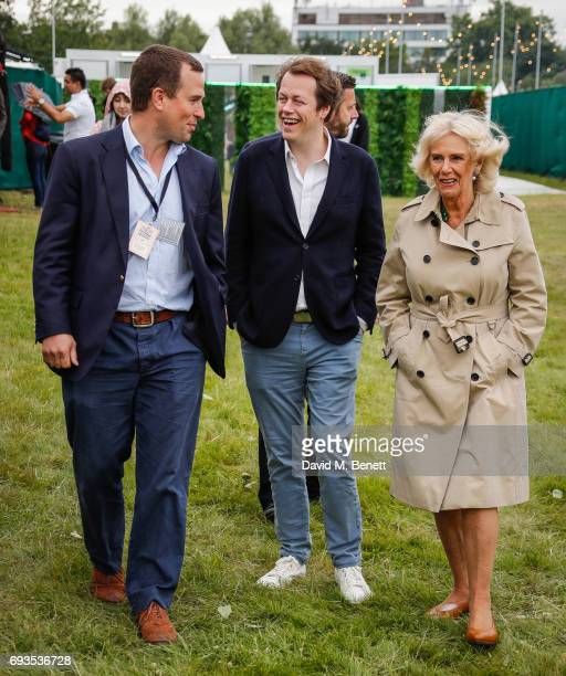 Peter Phillips Tom Parker Bowles and Camilla Duchess of Cornwall attend The Bulleit Woody at London Food Month's Night Market with The London Evening...