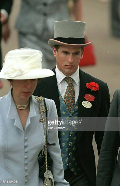 Peter Phillips Walking Behind His Mother, Princess Anne At Ascot Races.