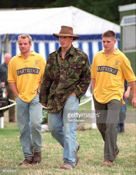 Peter Phillips Walking With Friends At Gatcombe Horse Trials At Gatcombe Park