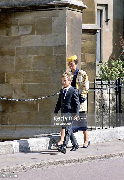 Peter Phillips With His Mother, Princess Anne In Windsor For The Traditional Easter Service.