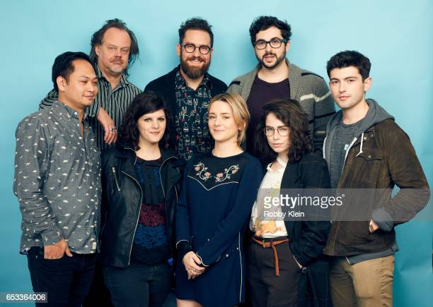 Peter Phok Larry Fessenden Addison Timlin Jenn Wexler Robert Mockler James Belfer Jessalyn Abbott and Ian Nelson of 'Like Me' pose for a portrait at...