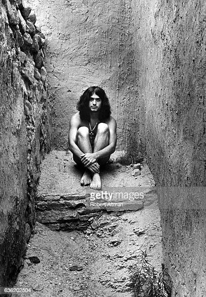 Peter Pizzitola sits in a tunnel circa July 1969 in New Mexico