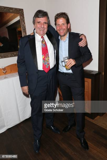 Peter Pongratz and Philip Greffenius during the piano night hosted by Wempe and Glashuette Original at Gruenwalder Einkehr on April 25 2017 in Munich...