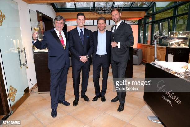 Peter Pongratz Peter Leuschner Brand Manager Deutschland Glashuette Original Philip Greffenius Edition Sportiva and Marc Autmaring during the piano...