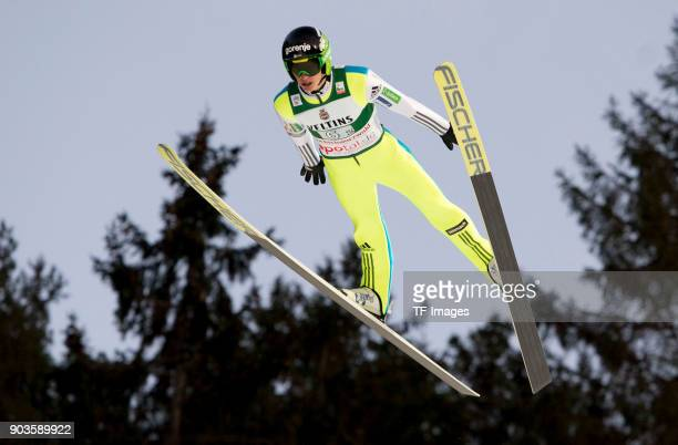 Peter Prevc of Slovenia competes during the FIS Ski Jumping World Cup on December 09 2017 in TitiseeNeustadt Germany