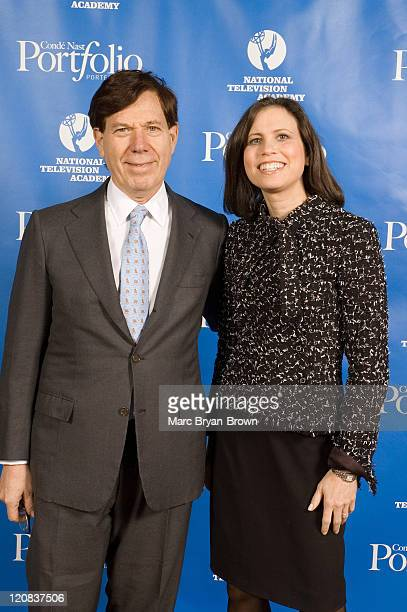 Peter Price NATAS President and Joanne Lipman Editor in Chief of Conde Nast Portfolio