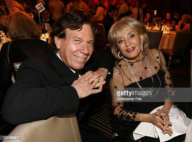 Peter Price President and CEO of the National Television Academy and Barbara Walters