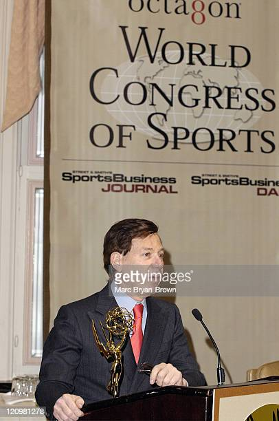 Peter Price president of NATAS during The 26th Annual Sports EMMY Award Nominees March 9 2005 at Waldorf Astoria in New York New York United States