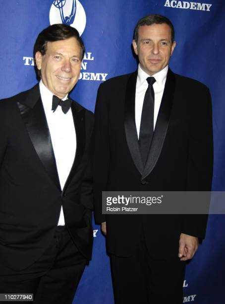 Peter Price President of the National Television Academy and Robert Iger CEO of The Walt Disney Corporation