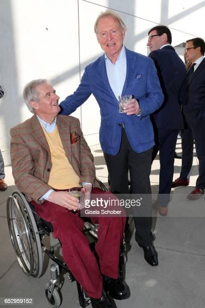 Peter Prinz zu Hohenlohe and Christian Graf von Pfuel during the Gentlemen Art Lunch at Pinakothek der Moderne on March 13 2017 in Munich Germany