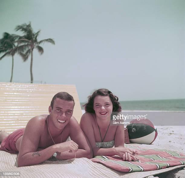 Peter Pulitzer grandson of press magnate Joseph Pulitzer in Palm Beach Florida 1955