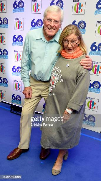 Peter Purves and Lesley Judd attends the 'Blue Peter Big Birthday' celebration at BBC Philharmonic Studio on October 16 2018 in Manchester England