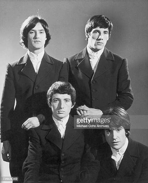 Peter Quaife Ray Davies Dave Davies Mick Avory of the rock group The Kinks pose for a portrait session in 1965 in London England