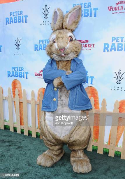 Peter Rabbit attends the Los Angeles Premiere 'Peter Rabbit' at The Grove on February 3 2018 in Los Angeles California