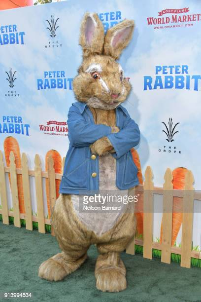 Peter Rabbit attends the premiere of Columbia Pictures' 'Peter Rabbit' at The Grove on February 3 2018 in Los Angeles California