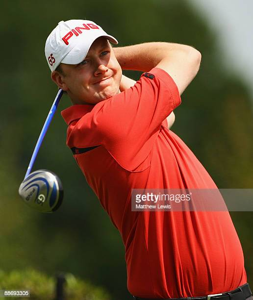 Peter Raine of Stressholme tees off on the 1st hole during the Virgin Atlantic PGA National ProAM Championship Regional Qualifier at Fulford Golf...