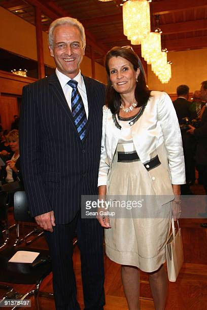 Peter Ramsauer Vice President of the Bavarian Christian Democrats the CSU and his wife Susanne attend the 2009 Quadriga Awards on October 3 2009 in...