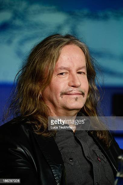 Peter Rasym attends the 'Puhdys' Press Conference at bcc Congress Center on October 30 2013 in Berlin Germany