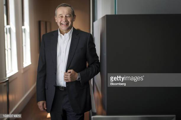 Peter Rawlinson chief technology officer of Lucid Motors Inc speaks during a Bloomberg Television interview in San Francisco California US on Monday...