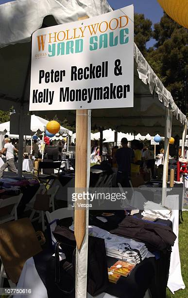 Peter Reckell and Kelly Moneymaker Booth during W Magazine and Guess Hollywood Yard Sale to Benefit the Enviromental Media Assoc at Private Home in...