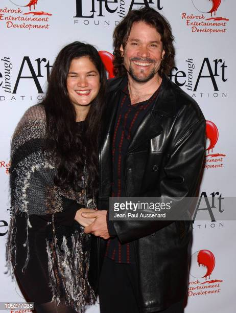 Peter Reckell and Kelly Moneymaker during The First Annual Red Party To Benefit The Life Through Art Foundation at Private residence in Holmby Hills...