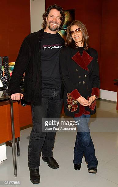 Peter Reckell and Kristian Alfonso during MAC AIDS Fund and Viva Glam on World Aids Day at MAC Store in Hollywood California United States