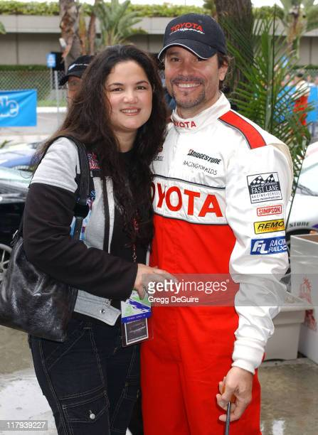 Peter Reckell and wife Kelly Moneymaker during 28th Annual Toyota Pro/Celebrity Race Race Day at Streets of Long Beach in Long Beach California...