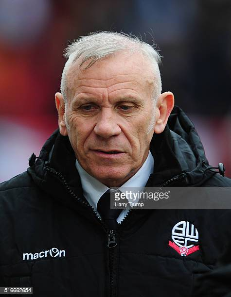 Peter Reid Coach of Bolton Wanderers during the Sky Bet Championship match between Bristol City and Bolton Wanderers at Ashton Gate on March 19 2016...