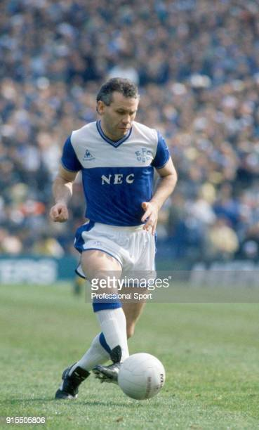 Peter Reid of Everton in action during the FA Cup Semi Final between Everton and Sheffield Wednesday at Villa Park on April 5 1986 in Birmingham...
