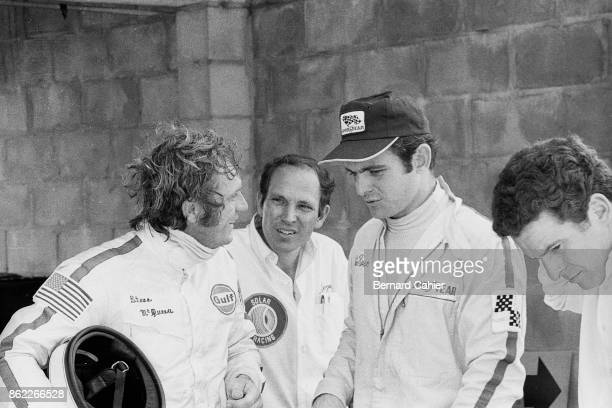 Peter Revson, Steve McQueen, 12 Hours of Sebring, Sebring, 21 March 1970. Steve McQueen and Peter Revson in the pits during practice for the 1970 12...