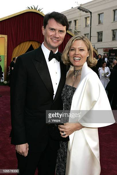 Peter Rice of Fox Searchlight and wife Megan during The 77th Annual Academy Awards Executive Arrivals at Kodak Theatre in Hollywood California United...