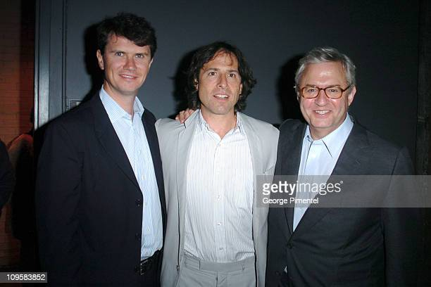 Peter Rice president of Fox Searchlight David O Russell and Michael Kuhn