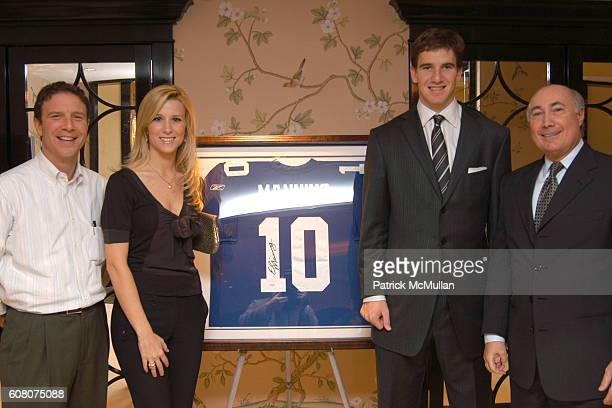 Peter Ripka, Abby McGrew, Eli Manning and Ron Berk attend Judith Ripka & Eli Manning Holiday Shopping Night at Judith Ripka on December 12, 2006 in...