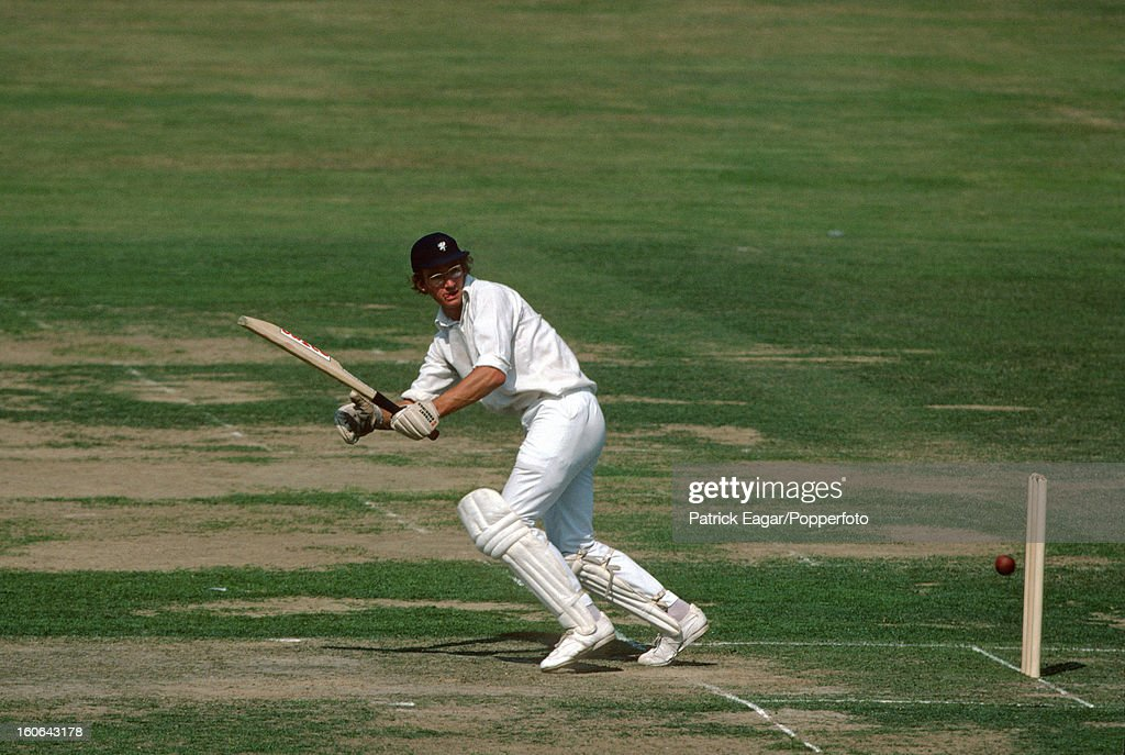 Peter Roebuck batting during his 14, Gillette Cup Final, Somerset v Northants at Lord's 1979.