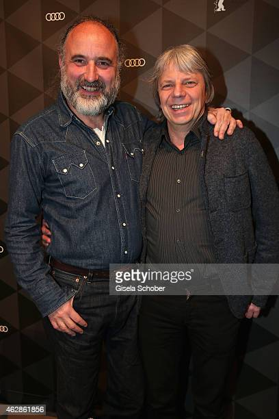Peter Rommel and Andreas Dresen pose at the Berlinale Open House at the AUDI Lounge during the 65th Berlinale International Film Festival at on...